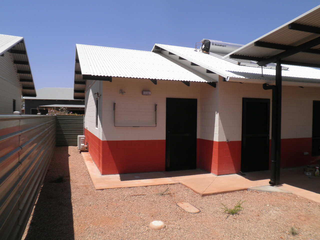 A newly built house with verandah for NT government employees.
